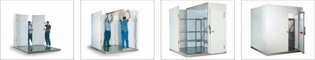 Assembling coldroom