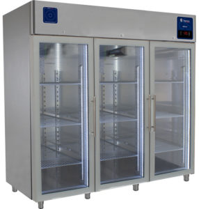 frigo per farmacie e laboratori porta a vetro